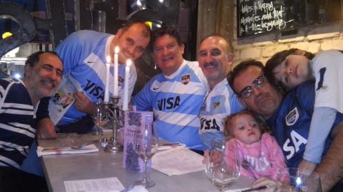 Gabriel, Paco, Pepe, Horacio, Nicole, Gustavo, Augusto