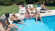Mike, Wally, Javier, Tristán, Daniela, Arturo, Jano